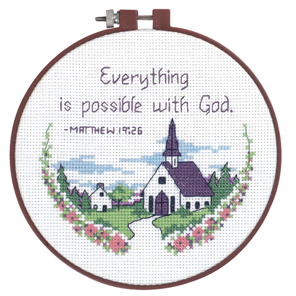 "Dimensions Learn-A-Craft ""Everything Is Possible"" Counted Cross Stitch Kit, 6"""