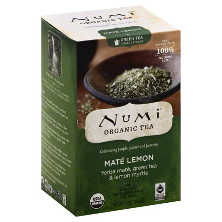 - Numi Tea Mate Lemon Rainforest Green Tea - 18 Bags