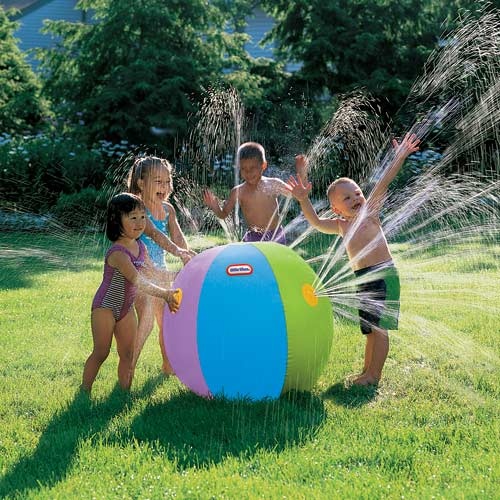 Imperial® Toy Little Tikes® Beach Ball Sprinkler, Multi-colored Ball