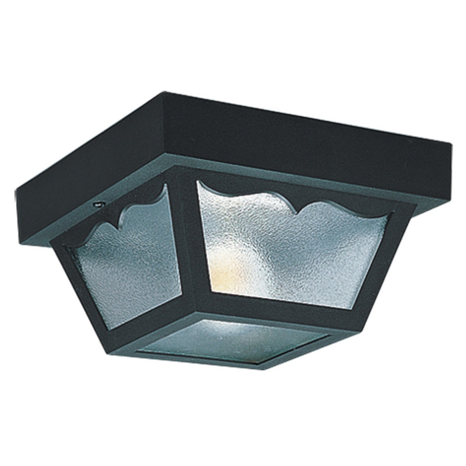 Sea Gull Outdoor 7569 Ceiling Light - 5.5H in. Black