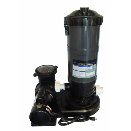 0.75 Hp Pool (Pooline Pro Above Ground Pool 60sf Cartridge Filter System with 0.75 HP Pump )