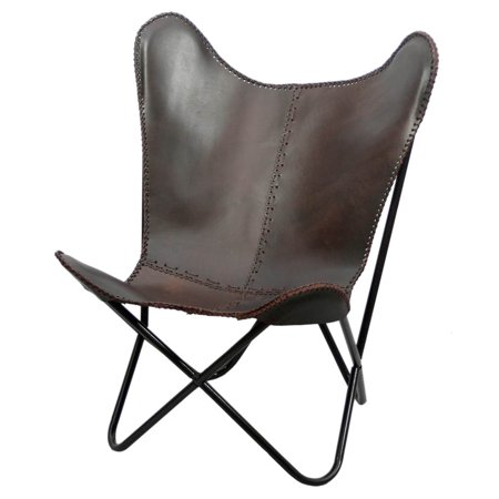 Fashion N You Leather Butterfly Chair Brown