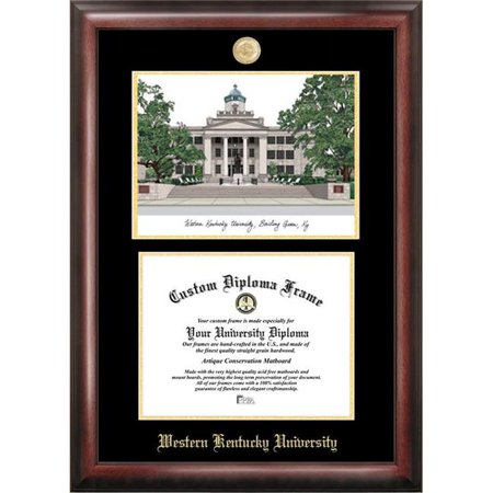 Campus Images KY996LGED-1411 11 x 14 in. Western Kentucky University Gold Embossed Diploma Satin Mahogany Frame with Lithograph - image 1 de 1