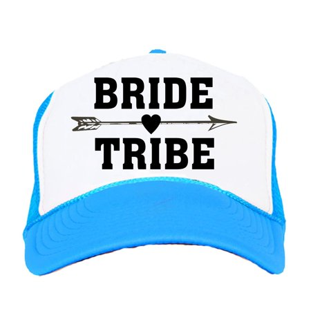 Bride Tribe Neon Trucker Snapback Hats Bachelorette Party Wedding Bridal Party