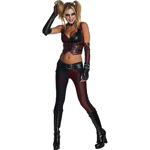 Women's Batman Arkham City Harley Quinn Adult Halloween Costume