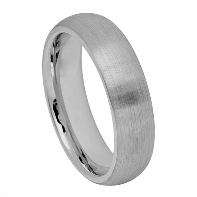 TK Rings 060TR-6mmx10.0 6 mm Brushed Domed Classic Style Tungsten Ring - Size 10 - image 1 of 1