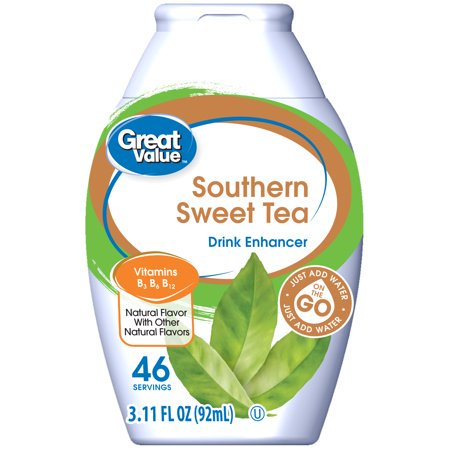 (6 Pack) Great Value Drink Enhancer, Southern Sweet Tea, 3.11 fl (The Best Tea To Drink Before Bed)