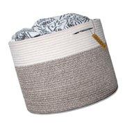 "Goodpick Large Cotton Rope Basket 15.8""x15.8""x13.8""-Baby Laundry Basket Woven..."