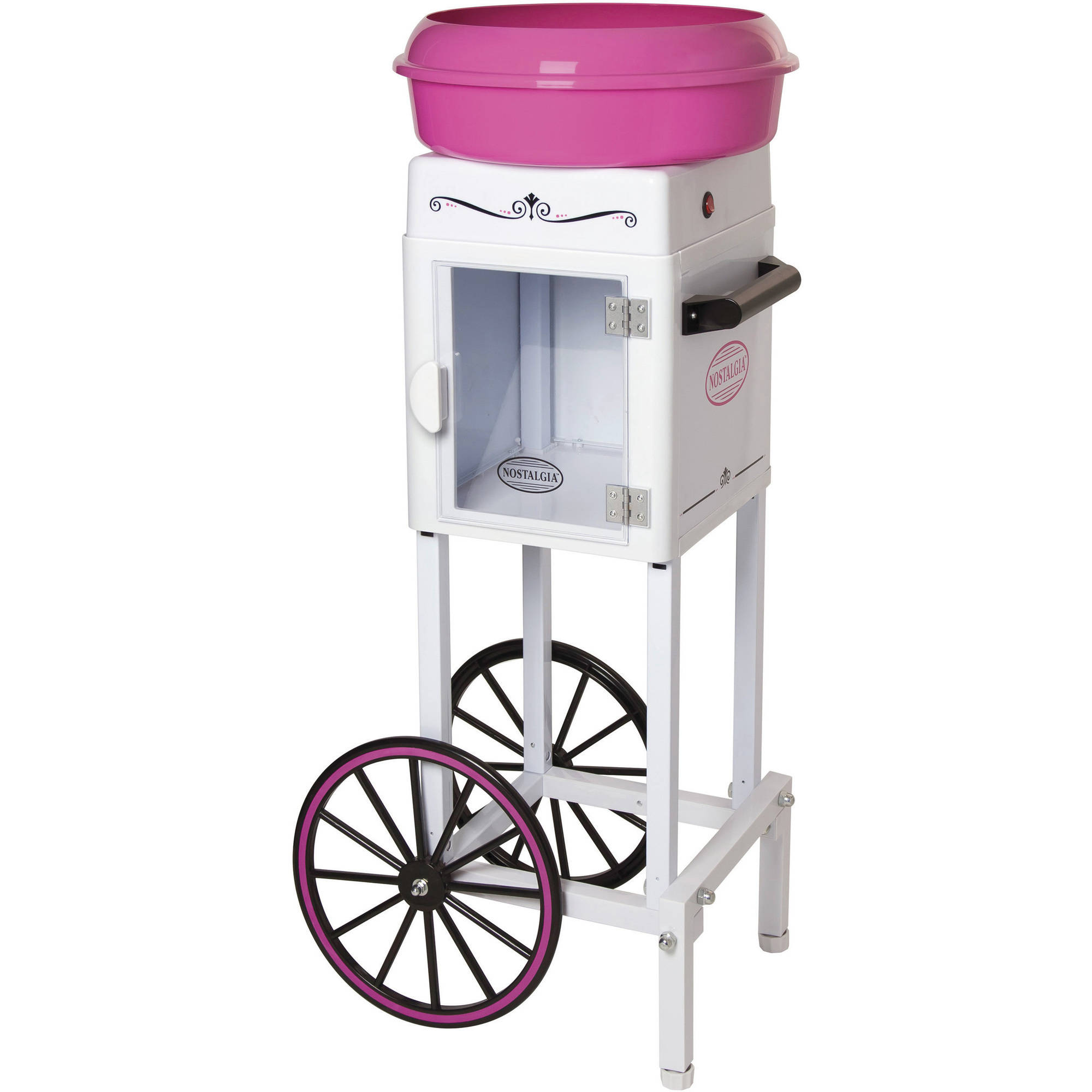 Nostalgia 3' Tall Hard and Sugar-Free Candy Cotton Candy Cart, CCM200