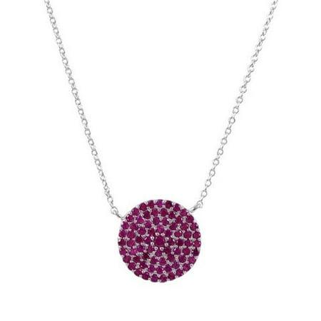 Fuschia Zirconia (Dlux Jewels SS fuschia Sterling Silver Rose Round Cubic Zirconia)