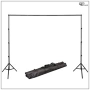 10x7' Height Adjustable Background Support System with 3 Section Telescopic Stand and 4 Section Crossbar by Loadstone Studio WMLS0370