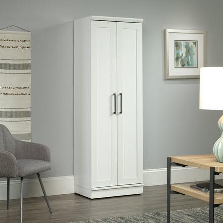 Sauder Homeplus Storage Cabinet Soft White Finish Walmartcom