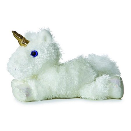 Celestial Unicorn Mini Flopsie 8 inch - Stuffed Animal by Aurora Plush (16622)