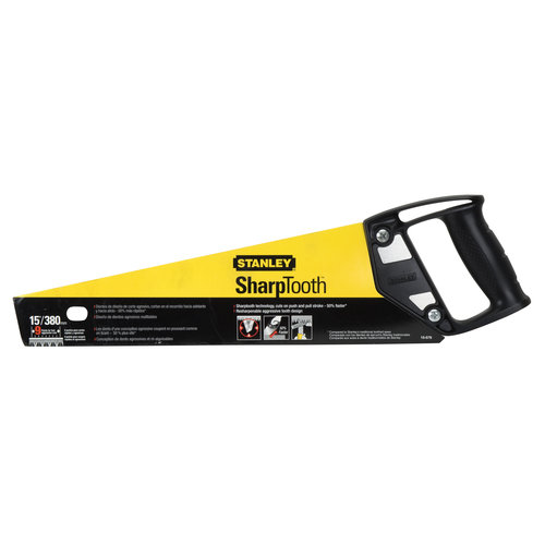 STANLEY 15-Inch SharpTooth General Purpose Hand Saw, L, 9 TPI, Aggressive   15-579 by Generic