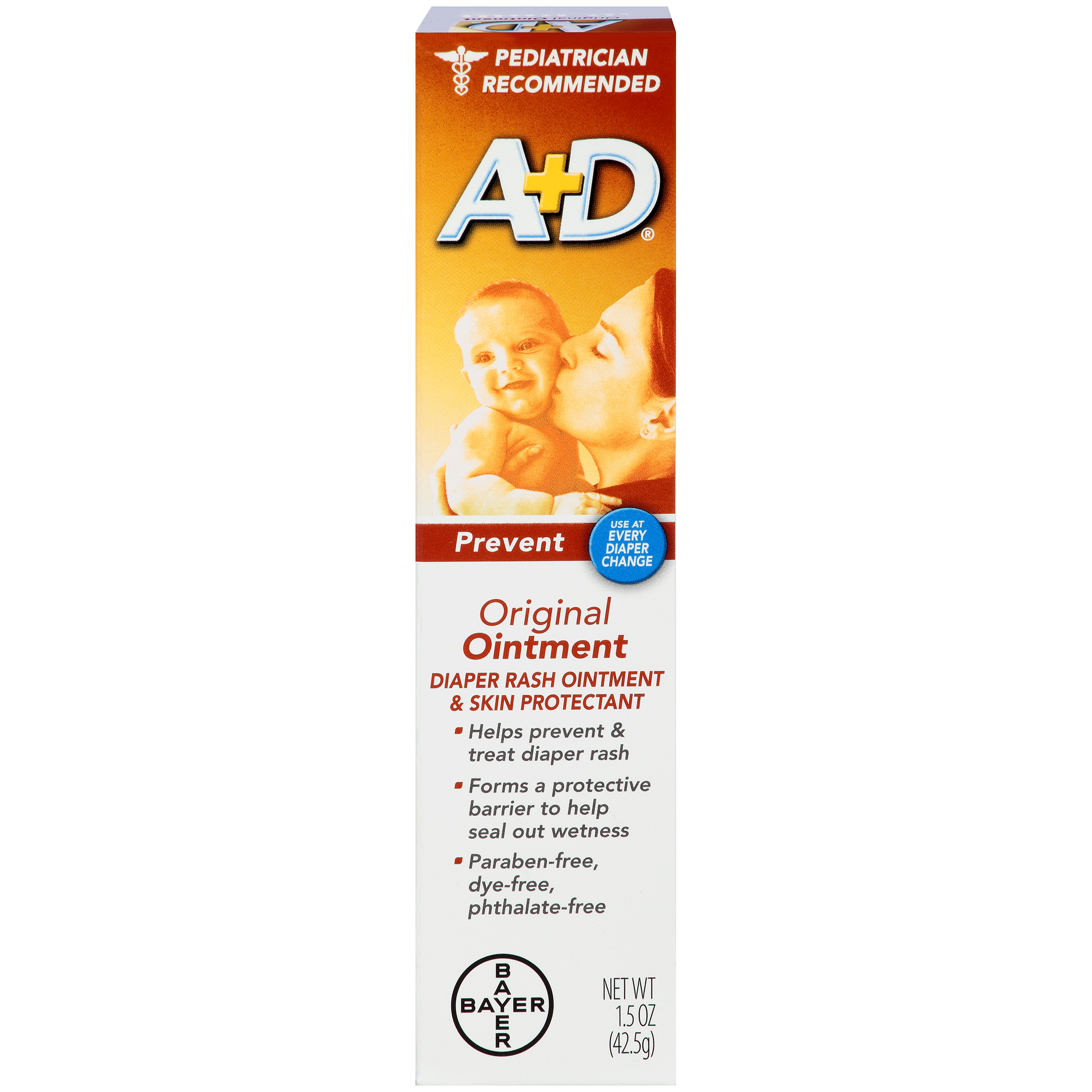 (2 Pack) A+D Original Diaper Rash Ointment, Skin Protectant, 1.5 Ounce Tube
