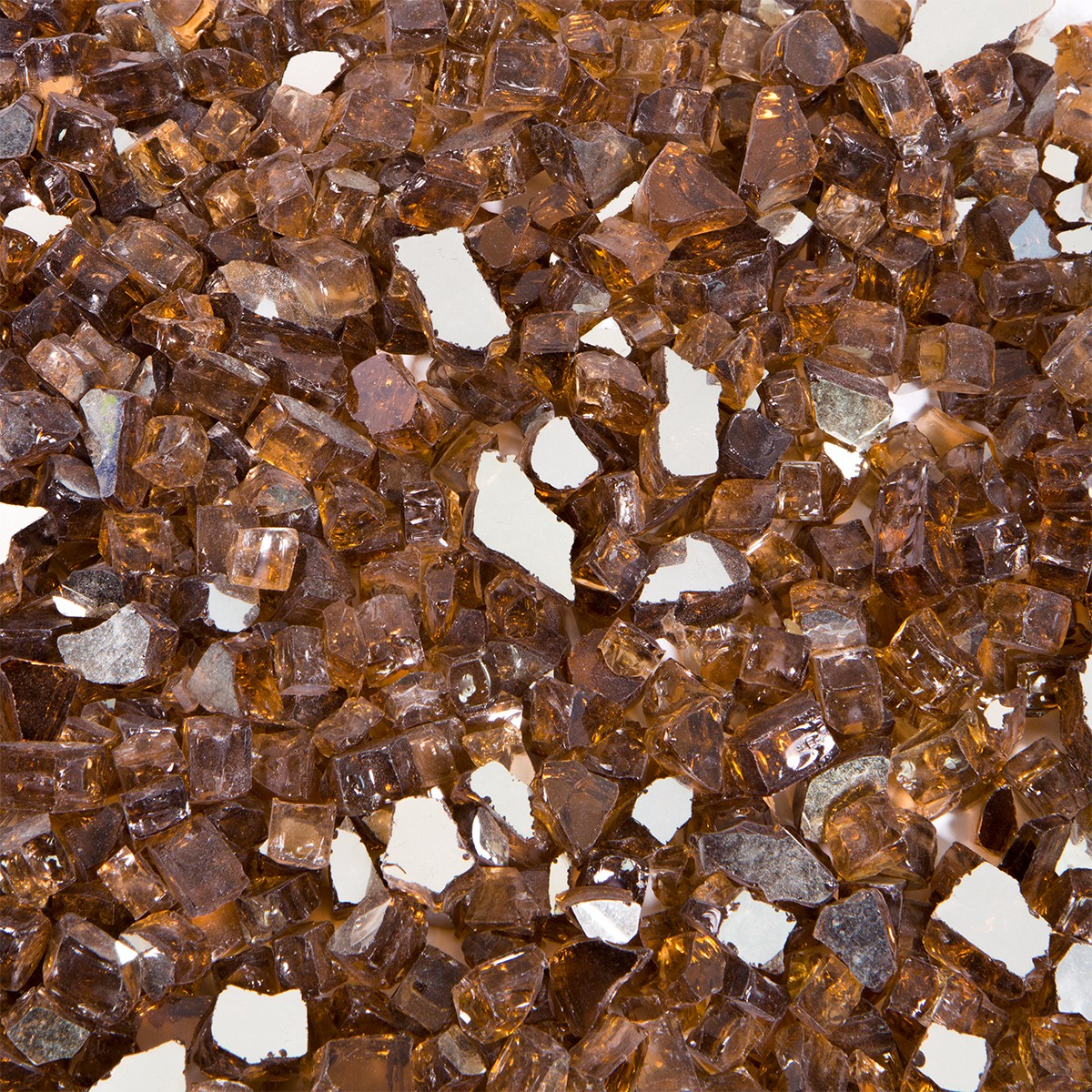 """10 LBS 1/2"""" Barton Rich Copper Reflective Fire Glass Fireplace Glass Rocks Fire Pit Crystals"""