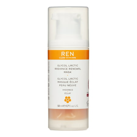 REN Glycol Lactic Radiance Renewal Face Mask, 1.7 Fl