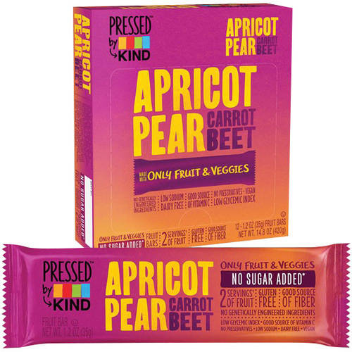 *****DISCONTINUED****Pressed by Kind Apricot Pear Carrot Beet Fruit Bar, 1.2 oz, (Pack of 6)