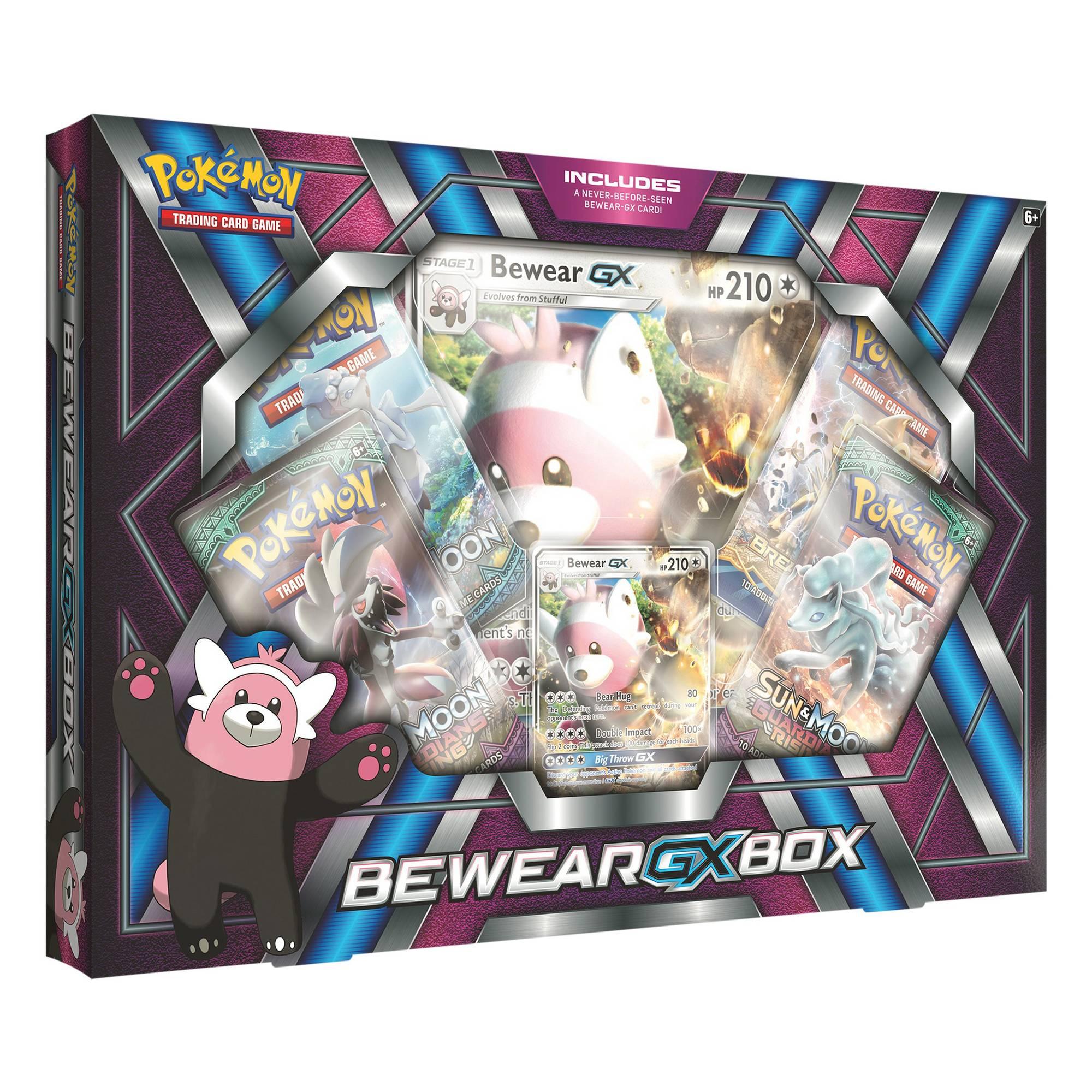 Pokemon Tcg Bewear Gx Premium Collection Bundle Box Plus Free Walmart 5x9 Pocket Page Protectors Walmart Com Walmart Com