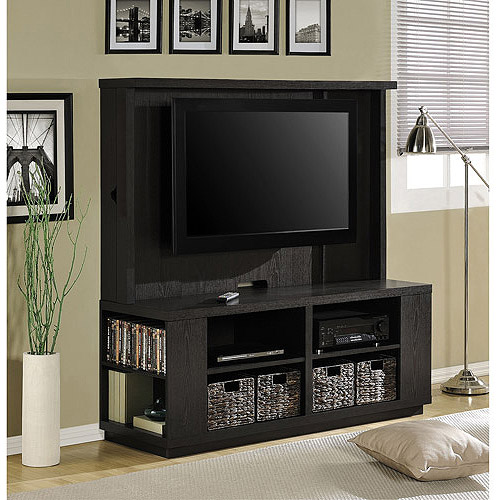 Altra Dylan Home Entertainment Center with Storage Sides and Baskets, Espresso, for TVs up to 60""