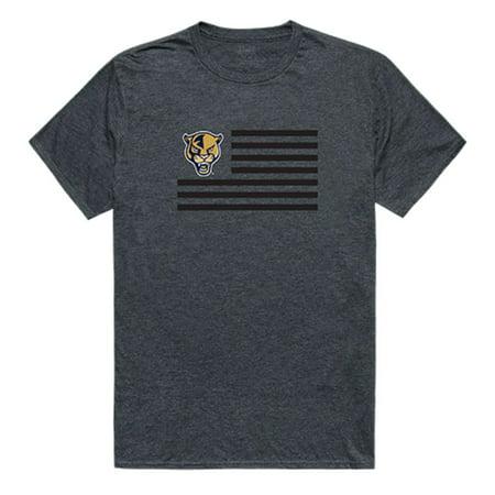 Florida International University Panthers Flag Tee T-Shirt Heather Charcoal XXL