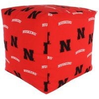 Nebraska Cornhuskers Cube Cushion Pouf Chair Bean Bag Ottoman