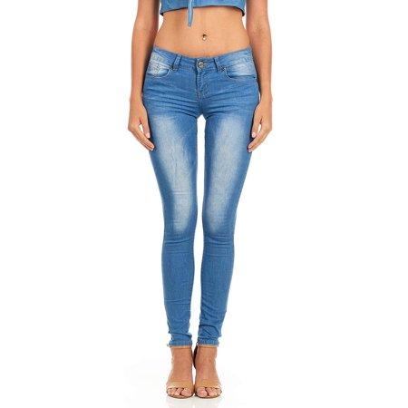 191f609472af YDX Jeans - Cover Girl Jeans Women Juniors Mid Rise Slim Fit Stretchy  Skinny Jeans 4 Options Size 5 Black (31