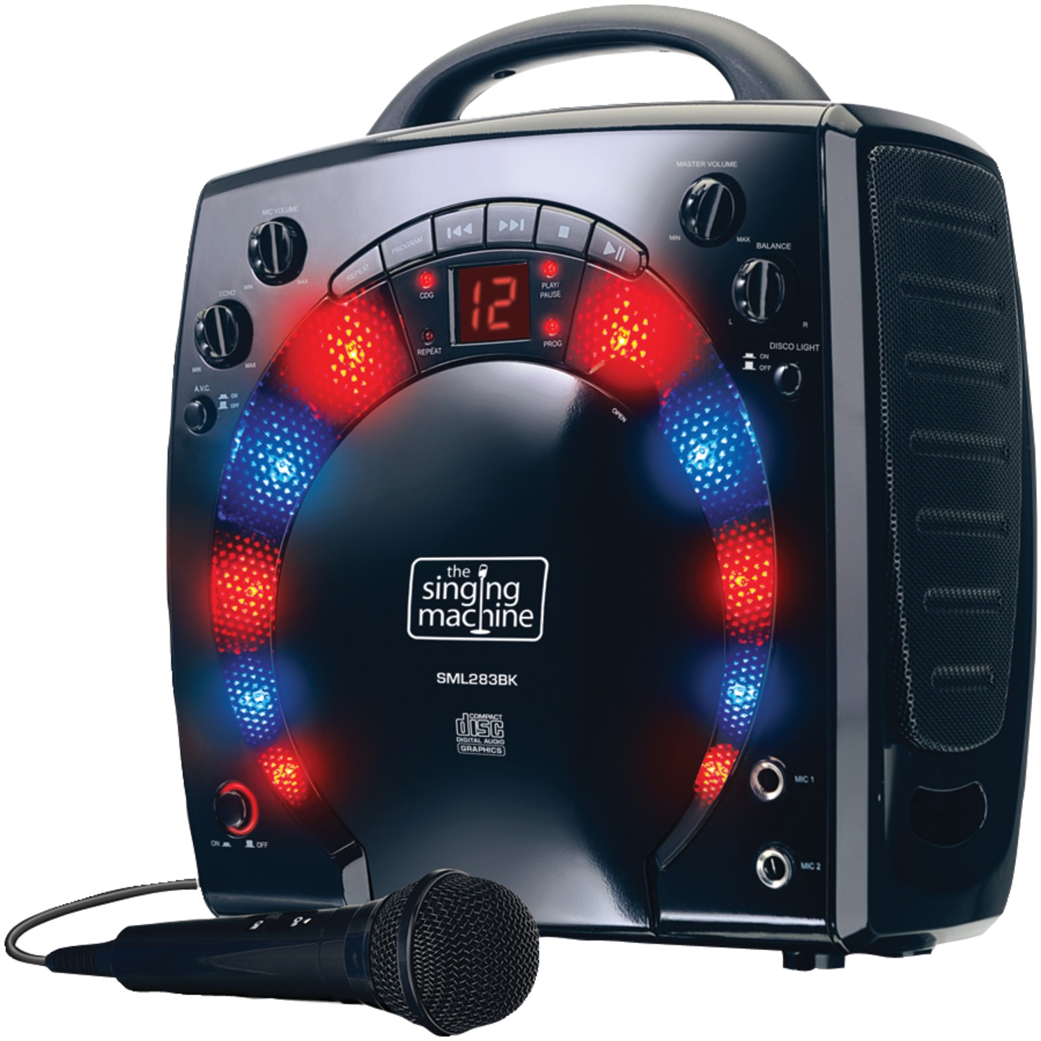 The Singing Machine SML283BK Portable Karaoke Systems (Black)