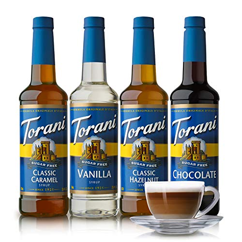 Torani Sugar Free Syrup Variety Pack, 25.4 Fluid Ounce (Pack of 4) - 25.4 Fl Oz (Pack of 4)