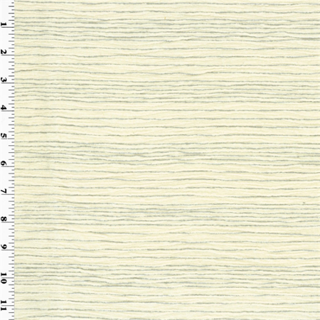 Crushed Chenille - Designer Dove White Crush Pleated Chenille Home Decorating Fabric, Fabric By the Yard