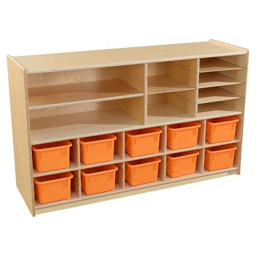 Wood Designs 18 Compartment Cubby with Trays