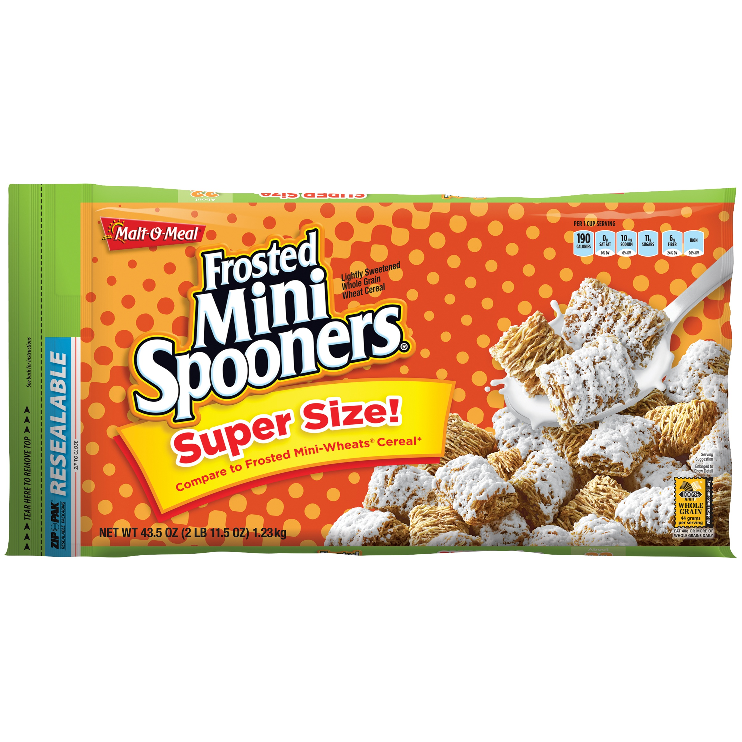 Malt-O-Meal® Frosted Mini Spooners® Cereal 43.5 oz. ZIP-PAK®
