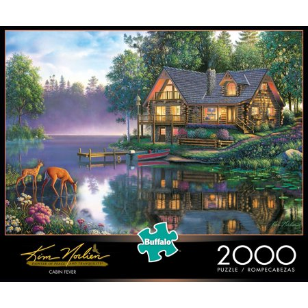 Buffalo Games Kim Norlien Cabin Fever 2000 Piece Jigsaw (Most Addictive Puzzle Game)