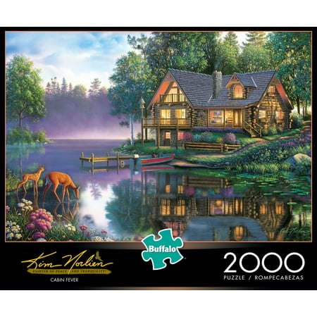 Dog Family Jigsaw Puzzle (Buffalo Games Kim Norlien Cabin Fever 2000 Piece Jigsaw Puzzle)