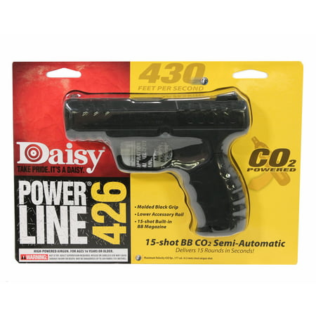Black Semi Automatic Gun - Daisy 426 Powerline 426 Semi-Automatic CO2 .177 BB 15 rd
