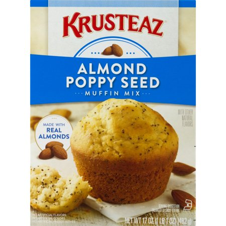 (5 Pack) Krusteaz Almond Poppy Seed Supreme Muffin Mix, 17oz Box