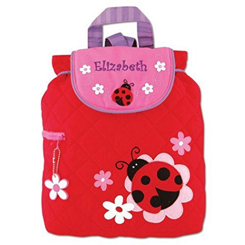 Personalized Stephen Joseph Quilted Ladybug Toddler Backpack, CUSTOM NAME