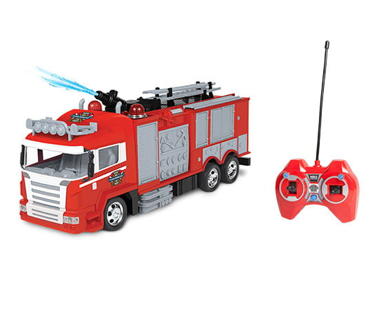 Fire Rescue Water Cannon RC Fire Truck by World Tech Toys