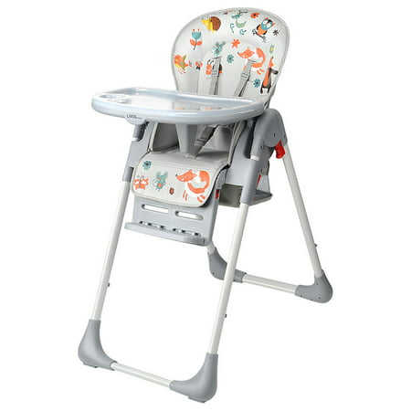 Baby High Chair With Basket, Booster Toddle Highchair, 6-Position Adjustable Seat Height, 3-Position Adjustable Food Tray - image 1 of 12