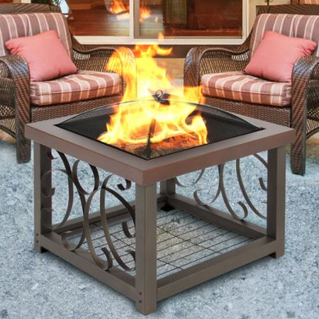 Best Choice Products Outdoor Fire Pit Table Firepit Patio