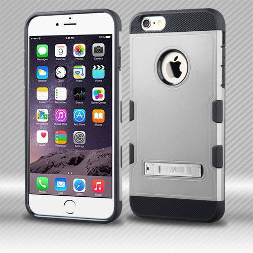 Apple iPhone 6 Plus/iPhone 6S Plus MyBat TUFF Trooper Hybrid Protector Cover with Stand
