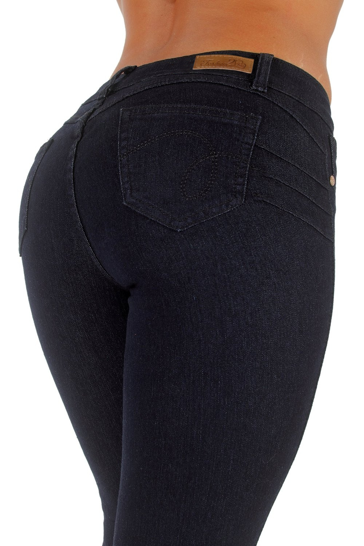 Style K519P - Plus Size, Colombian Design, Levanta Cola, Butt Lift, Skinny Jeans