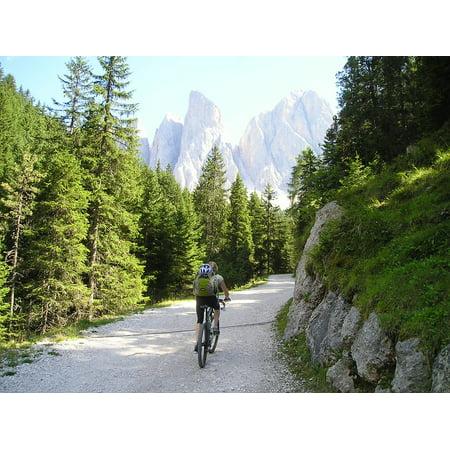 Framed Art for Your Wall Transalp Bike Tour Mountain Bike Bike Ride 10x13 Frame