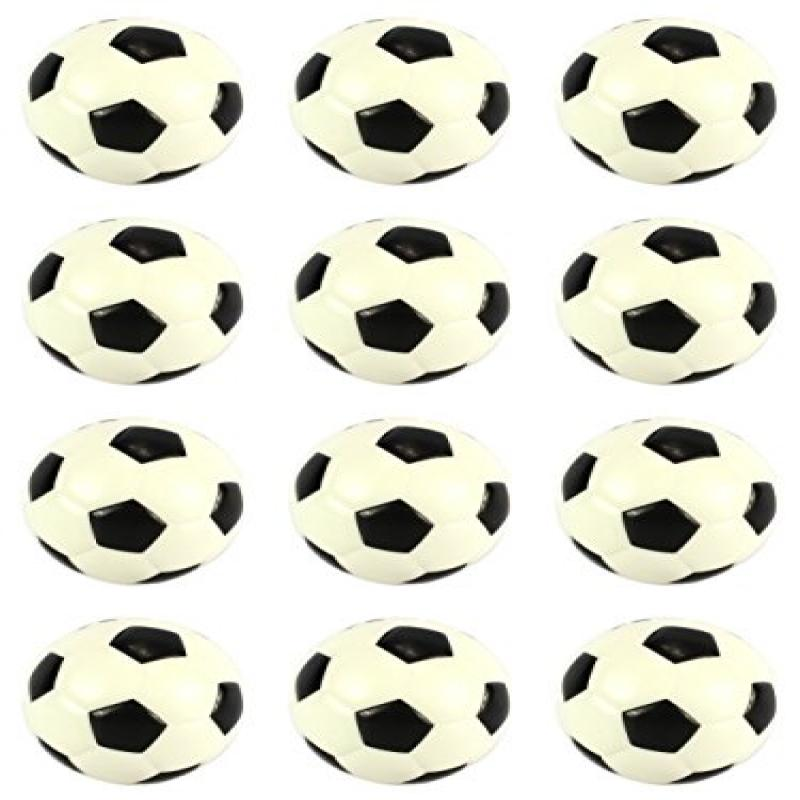 "Set of 12 Squeeze Foam 2.5"" Soccer Balls, Perfect for Stress Relieving, Sports... by"