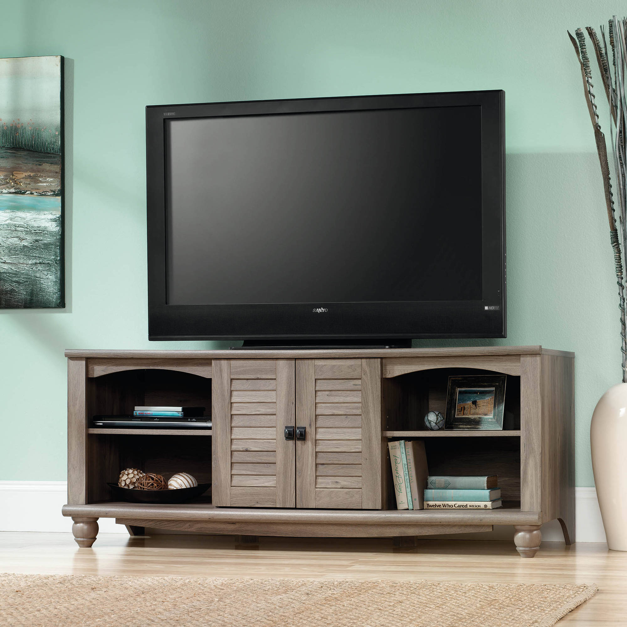 "Sauder Harbor View Entertainment Credenza for TVs up to 60"", Multiple Finishes"