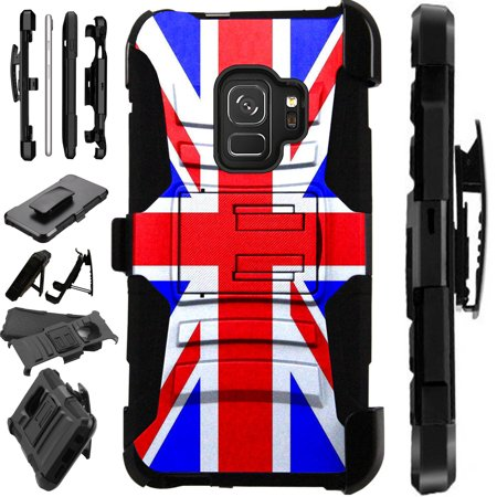 - For Samsung Galaxy A6 (2018) Case Armor Hybrid Silicone Phone Cover Stand LuxGuard Holster (British Flag New)