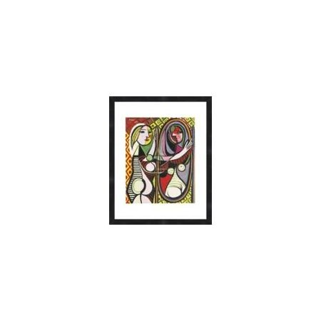 buyartforless Girl Before a Mirror by Picasso Framed Wall Poster