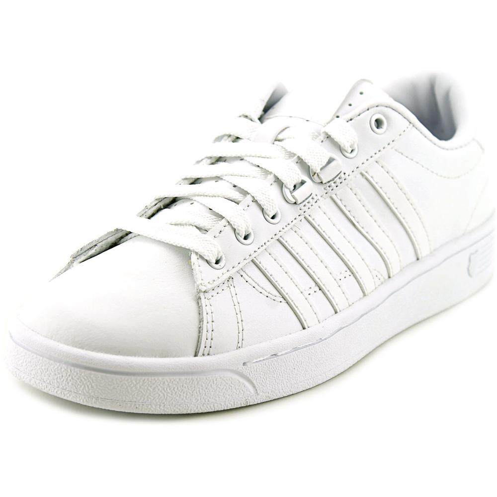 k swiss hoke cmf toe leather white tennis shoe