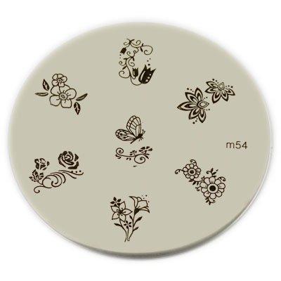 KONAD Nail Art Konad Stamping Nail Art Image Plate - M54 - image 1 of 1
