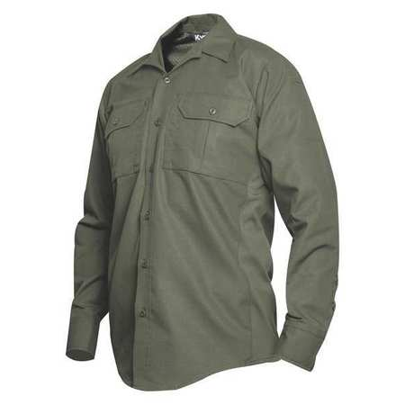 Vertx Vtx8120od Tactical Shirt Ls,40 In. L,Od Green,4Xl G1636997